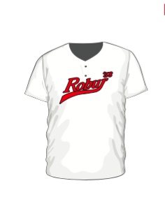 Robur 2 Button Jersey Wit