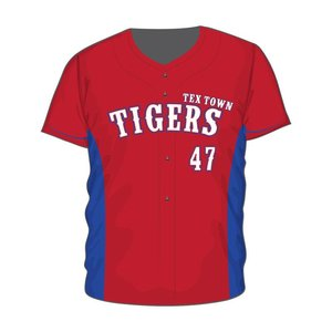 Tex Town Tigers Full Button Jersey